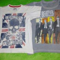 Lote Camisetas Beatles e London Menino Rock - 6 anos - Póim