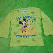 Camiseta Manga longa Mickey Mouse Verde - 3 anos - Disney