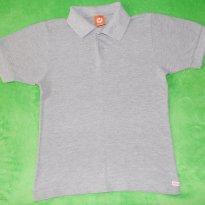 Camisa Polo Hering Basica Cinza Mescla - 8 anos - Hering