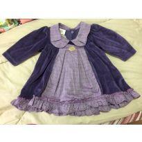 Vestido de veludo - 6 a 9 meses - By Gabriely Baby