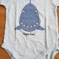 Body tubarão - 3 a 6 meses - Baby Club
