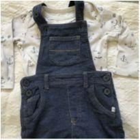 Jardineira t12/18 - 12 a 18 meses - Baby Gap e Teddy Boom