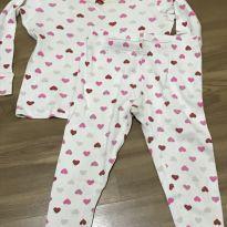 Pijama coraçãozinho carters t2 - 2 anos - Carter`s
