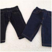 Lote calça tipo jeans - 6 a 9 meses - Carter`s e Up Baby