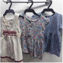 Lote vestidos 12 meses - 9 a 12 meses - Carter`s e Zara Baby