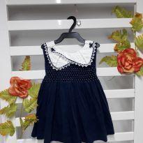Vestido marinho - 6 a 9 meses - Jenni