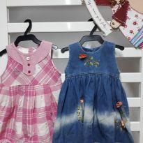 Kit 2 vestidinhos - 9 a 12 meses - Lilica Ripilica e Sem Maraca