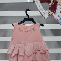 Vestido rosê - 9 a 12 meses - Carinhoso