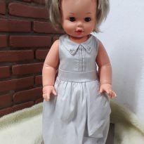 Vestido festa prata - 9 a 12 meses - Miss Trm