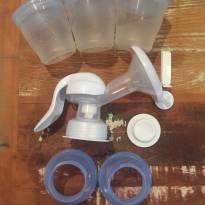 Bomba de leite manual Avent mais 3 copos para armazenagem -  - Avent Philips