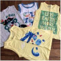 Lote de camisetas - 4 anos - Alphabeto
