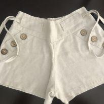 Shorts com botões - 6 anos - Não informada