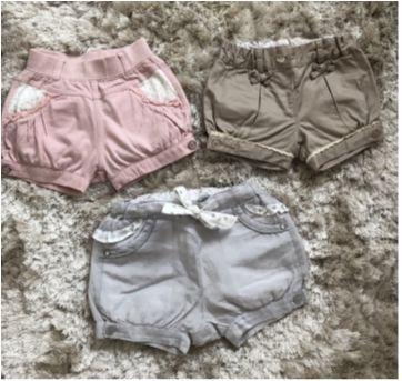 Kit shorts Chicco - 6 a 9 meses - Chicco