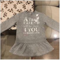 Vestido Chicco moletom - 12 a 18 meses - Chicco