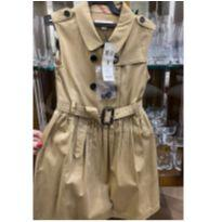 Vestido Sleeveless Trench Burberry - 8 anos - Burberry