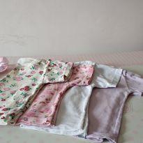 Lote com 4 camiseta de manga curta ❤️❤️ - 9 a 12 meses - ALEGRINHOS BABY e Mafessoni