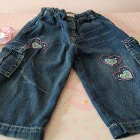 Calça jeans coraçãozinho ❤️❤️ - 9 a 12 meses - Articolare