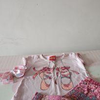 Conjunto sapatilha da bailarina ❤️❤️ Super queima de estoque! De 16,00 por 10,00 - 3 a 6 meses - Kyly