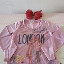 Blusa meninas e o coração ❤️ ❤️ Super queima de estoque! De 10,00 reais por 6,30 - 4 anos - LX Têxtil