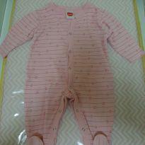 Macacão  do coração - 6 a 9 meses - Minimi
