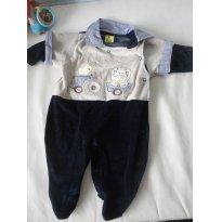 Macacão Veludinho - Novo - 3 a 6 meses - Alô bebê
