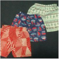 Trio Shorts Malwee & Kyly - 9 a 12 meses - Kyly e Malwee