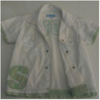 Camisa Social Manga Curta - 9 a 12 meses - Baby Way