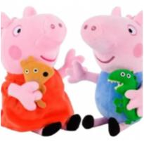 Boneco de Pelúcia Peppa Pig & George