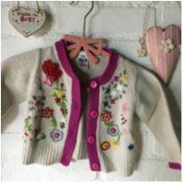 Casaco bordado - 3 a 6 meses - Zara Baby