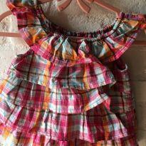 Vestido babadinho xadrez - 9 a 12 meses - Gymboree