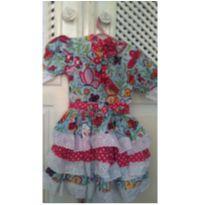 Vestido quadrilha - 3 anos - Artesanal