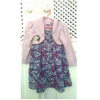 Vestido lavanda florido - 2 anos - Fakini