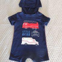 Macaquinho Romper Little Hero - Carter's Importado – 12 meses - 1 ano - Carter`s