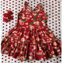 Vestido Vermelho Floral - 2 anos - Rovitex Kids