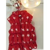 Colete acolchoado - vermelho de estrelas - 9 a 12 meses - 9 a 12 meses - Teddy Boom