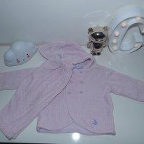 Conjunto Lilás com poás em Plush - 9 a 12 meses - 9 a 12 meses - Empório Baby & Kids