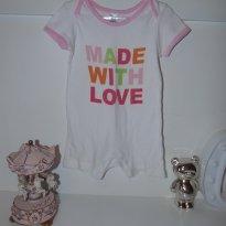 Macaquinho Zara - Made with love (feito com amor) 12 a 18 meses - 12 a 18 meses - Zara