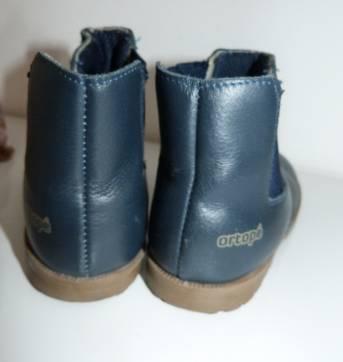 BOTA ORTOPÉ - azul marinho couro legítimo - 27 - Ortopé