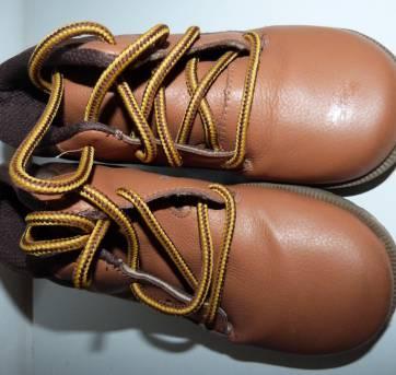 bota caramelo e marrom - ortopé tam 27 couro legítimo - 27 - Ortopé