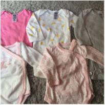 Lote Bodys Bebê Carters Menina 0-3 Meses 9 Peças - 0 a 3 meses - Carter`s e Teddy Boom