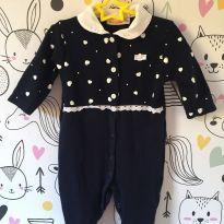 Macacão Luxo Azul Marinho - 6-9 meses - 6 meses - Alô bebê