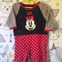 macacão minnie - disney baby - 0-3meses - 0 a 3 meses - Disney baby