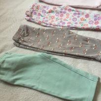 4 calças bebê - 3-6 meses - 3 a 6 meses - Carter`s e George