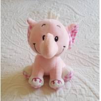 Elefante rosa - pelúcia e chocalho -  - Várias