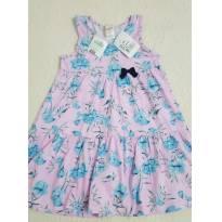 Vestido floral azul - 6 anos - Alô bebê