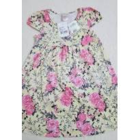 Vestido floral rosa e amarelo - 6 anos - Alô bebê