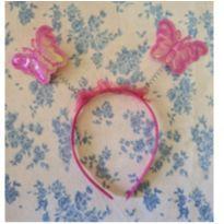 Tiara com borboletas - Único - Não informada