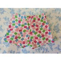 Shorts pijama - chicletes - 9 a 12 meses - Cara de Criança