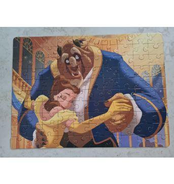 Quebra-cabeça A Bela e a Fera - 100 peças - Sem faixa etaria - Disney