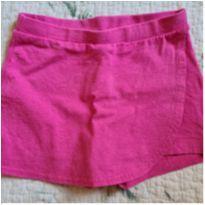 Shorts rosa com glitter